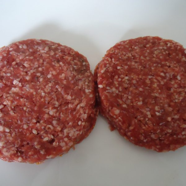 ongepaneerde hamburgers